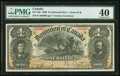 Canadian Currency, DC-13b $1 1898 PMG Extremely Fine 40. While sl...