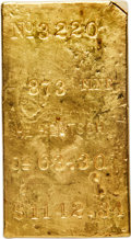 S.S. Central America Gold Bars, Henry Hentsch Gold Ingot. 63.30 Ounces....