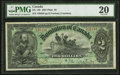 Canadian Currency, DC-14b $2 1897 PMG Very Fine 20.. ...