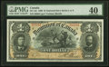 Canadian Currency, DC-13c $1 1898 PMG Extremely Fine 40.. ...