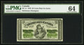 Canadian Currency, DC-1c 25 Cents 1870 PMG Choice Uncirculated 64.. ...