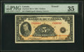 Canadian Currency, BC-6 $5 1935 PMG Choice Very Fine 35.. ...