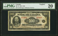 Canadian Currency, BC-15 $100 1935 PMG Very Fine 20.. ...