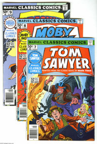 Marvel Classics Comics Group (Marvel, 1976-77) Condition: Average NM-. Seventeen-issue lot includes #7 (Tom Sawyer), 8 (...