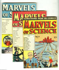 Golden Age (1938-1955):Non-Fiction, Marvels of Science #1-4 Group (Charlton, 1946) Condition: AverageFN+. This group contains issues #1 through 4. Issue #1 fea...(Total: 4 Comic Books Item)