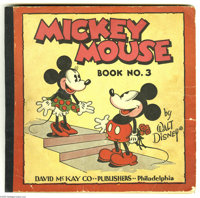 Mickey Mouse Comic #3 (David McKay, 1933) Condition: GD/VG. Reprints 1932-33 Sunday strips in color, including the famou...