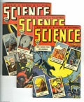 Golden Age (1938-1955):Science Fiction, Science Comics Group (Humor Publications, 1946) Condition: AverageVF+. Issues #2, 4 (Rudy Palais cover), and 5 are included...(Total: 3 Comic Books Item)
