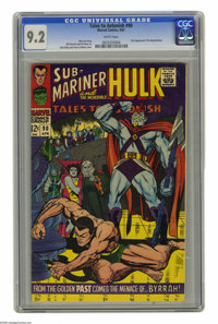 Tales to Astonish #90 (Marvel, 1967) CGC NM- 9.2 White pages. First appearance of the Abomination. Jack Kirby and Vince...