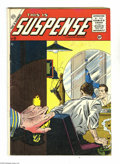 Golden Age (1938-1955):Crime, This Is Suspense #26 (Charlton, 1955) Condition: VG-. Marc Swayze cover. Overstreet 2005 VG 4.0 value = $20....