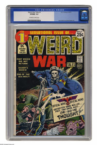 Weird War Tales #1 (DC, 1971) CGC VF/NM 9.0 Off-white to white pages. Joe Kubert cover. Kubert, Irv Novick, and Russ Hea...