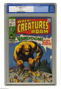 Bronze Age (1970-1979):Horror, Where Creatures Roam #4 (Marvel, 1971) CGC NM 9.4 Off-white pages.Jack Kirby cover and art. Overstreet 2005 NM- 9.2 value =...