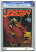 Magazines:Horror, Creepy #58 (Warren, 1973) CGC NM 9.4 Off-white to white pages. Manuel Sanjulian cover and biography. Richard Corben, Reed Cr...