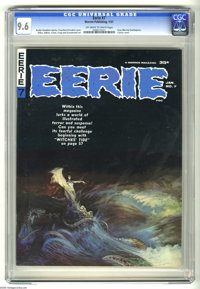 Eerie #7 (Warren, 1967) CGC NM+ 9.6 Off-white to white pages. Frank Frazetta classic cover. Interior art by Gray Morrow...