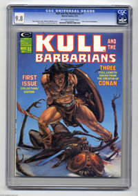Kull and the Barbarians (magazine) #1 (Marvel, 1975) CGC NM/MT 9.8 Off-white to white pages. Michael Whelan cover. John...