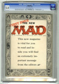 "Golden Age (1938-1955):Humor, Mad #24 (EC, 1955) CGC VG/FN 5.0 Cream to off-white pages. First magazine issue. First ""What? Me Worry?"" on cover. Harvey Ku..."