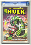 Magazines:Superhero, The Rampaging Hulk #3 (Marvel, 1977) CGC NM+ 9.6 White pages. Iron Man appearance in Bloodstone back-up story. Earl Norem co...