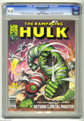 Magazines:Superhero, The Rampaging Hulk #3 (Marvel, 1977) CGC NM 9.4 White pages. IronMan appearance in Bloodstone back-up story. Earl Norem cov...