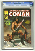Magazines:Miscellaneous, Savage Sword of Conan #44 (Marvel, 1979) CGC NM+ 9.6 Off-white towhite pages. Bob Larkin cover. John Buscema and Tony DeZun...