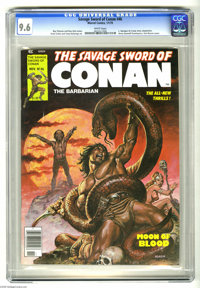 Savage Sword of Conan #46 (Marvel, 1979) CGC NM+ 9.6 White pages. Earl Norem cover. Ernie Colan and Tony DeZuniga art. K...