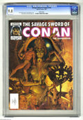 Magazines:Superhero, Savage Sword of Conan #114 (Marvel, 1985) CGC NM/MT 9.8 Whitepages. Steve Hickman cover. Rudy Nebres and Andy Kubert art. O...