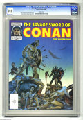 Magazines:Superhero, Savage Sword of Conan #115 (Marvel, 1985) CGC NM/MT 9.8 Whitepages. Joe Jusko cover. Rudy Nebres and Val Mayerik art. Overs...
