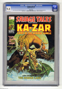 Savage Tales #9 (Marvel, 1975) CGC NM/MT 9.8 White pages. Shanna the She-Devil appearance. Mike Zeck frontispiece. Mike...