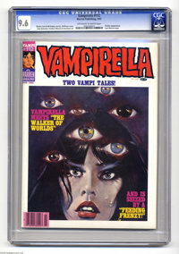 Vampirella #112 (Warren, 1983) CGC NM+ 9.6 Off-white to white pages. Pantha appearance. Last Warren issue. Hoffman cover...
