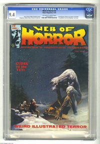 Web of Horror #3 (Major Magazines, 1970) CGC NM 9.4 Off-white to white pages. Last issue. Art contest centerfold. First...
