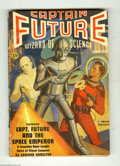 Pulps:Miscellaneous, Captain Future V1#1 (Standard, 1940) Condition: VG-. George Rozen cover art. Edmond Hamilton story. Trimmed copy. The Ultima...