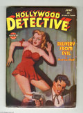 "Pulps:Miscellaneous, Hollywood Detective V6#2 (Arrow, 1945) Condition: FN. ""Dan Turner -- Hollywood Detective"" eight-page comic story included. T..."