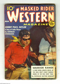Pulps:Miscellaneous, Masked Rider Western V6#2 (Standard, 1939) Condition: FN. Nice copy, with off-white pages. The Ultimate Guide to the Pulps V...