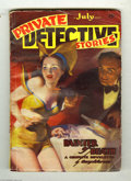 Pulps:Miscellaneous, Private Detective Stories July 1937 (V1#2) (Culture, 1937) Condition: VG+. Cover art by H. J. Ward. Robert Bellum story. Gre...
