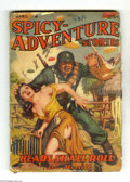 Pulps:Miscellaneous, Spicy-Adventure Stories April 1942 (V15#4) (Culture, 1942) Condition: VG-. Great cover of a Nazi assaulting a scantily-clad ...