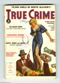 Pulps:Miscellaneous, True Crime Magazine July 1936 (V1#1) (Red Circle, 1936) Condition:VG/FN. A half-dressed blonde inspires heated bidding at a...