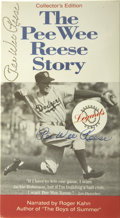 Autographs:Letters, The Pee Wee Reese Story Signed Video. The 1993 Legends Productionspresented The Pee Wee Reese Story. The captain and catal...