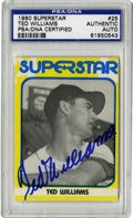 Autographs:Sports Cards, 1980 Superstar Signed Ted Williams #25, PSA Authentic. The youngvisage of the mighty Ted Williams serves as a tremendous b...