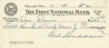 Autographs:Checks, 1964 Cal Hubbard Signed Check. Cal Hubbard is the only man to be elected to the baseball, college football, and pro footbal...