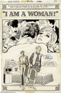 Original Comic Art:Splash Pages, Tony DeZuniga (attributed) - Young Romance Comics #190 Splash Page1 Original Art (DC, 1973). Women's Liberation issues seem...
