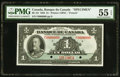 Canadian Currency, BC-2S $1 1935 Specimen PMG About Uncirculated 55 EPQ.. ...