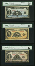 "Canadian Currency, Three PMG Graded 1935 ""English"" Notes.. ... (Total: 3 notes)"