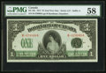 Canadian Currency, DC-23c $1 1917 PMG Choice About Unc 58.. ...