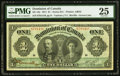 Canadian Currency, DC-18c $1 1911 PMG Very Fine 25.. ...