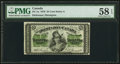 Canadian Currency, DC-1a 25 Cents 1870 PMG Choice About Unc 58 EPQ.. ...