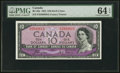 Canadian Currency, BC-32a $10 1954 Devil's Face PMG Choice Uncirculated 64 EPQ.. ...