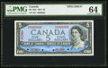 Canadian Currency, BC-39S $5 1954 Specimen PMG Choice Uncirculated 64.. ...