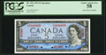Canadian Currency, BC-39S $5 1954 Specimen PCGS Choice About New 58, 4 POCs.. ...