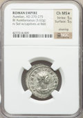 Ancients:Roman Imperial, Ancients: Aurelian (AD 270-275). BI antoninianus (23mm, 3.62 gm,12h). NGC Choice MS? 5/5 - 5/5, Silvering....