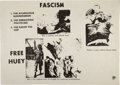 Miscellaneous:Broadside, Fascism - Free Huey Poster....
