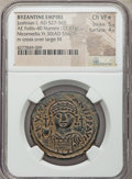 Ancients:Byzantine, Ancients: Justinian I the Great (AD 527-565). AE follis or 40 nummi(32mm, 17.67 gm, 7h). NGC Choice VF? 5/5 - 4/5. ...