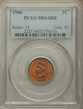 Indian Cents: , 1906 1C MS64 Red PCGS. PCGS Population: (392/249). NGC Census: (187/162). MS64. Mintage 96,022,256. ...